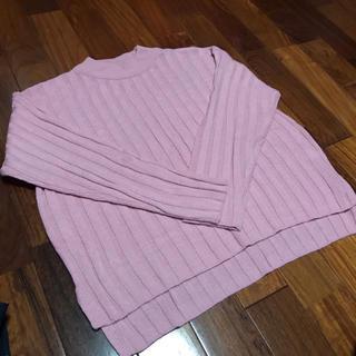 ジーユー(GU)のピンクのセーター(ニット/セーター)
