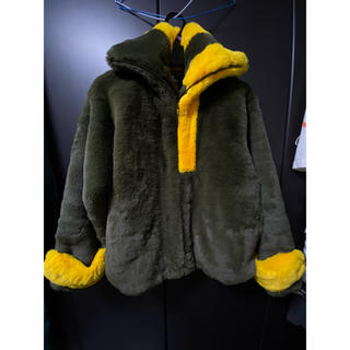 soduk fake fur jacket / khaki 値下げ交渉可