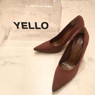 イエローブーツ(Yellow boots)のYELLO BROWN SUGER HEELS Sサイズ(ハイヒール/パンプス)