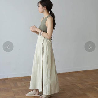 TODAYFUL - Wラップアラウンドチノスカート size38