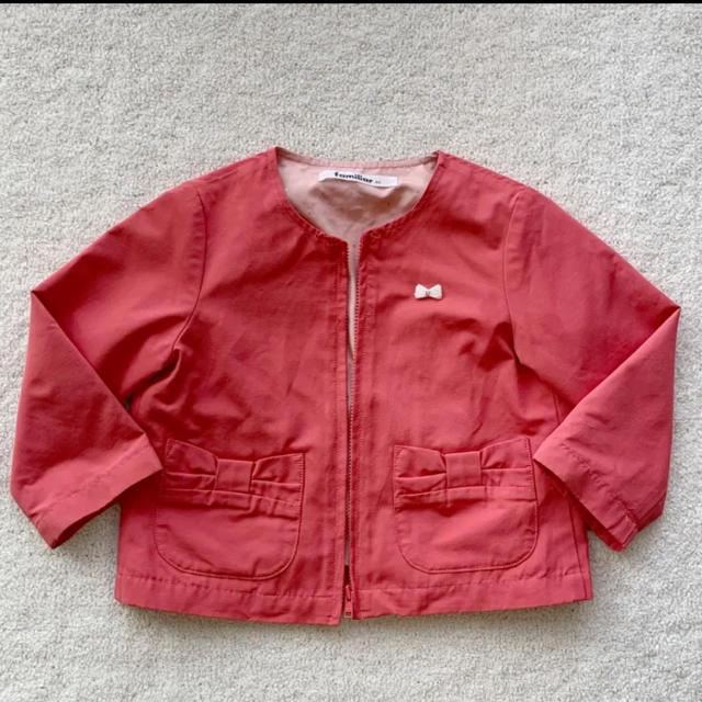 familiar(ファミリア)のファミリア  パール刺繍ジャケット キッズ/ベビー/マタニティのキッズ服女の子用(90cm~)(ジャケット/上着)の商品写真