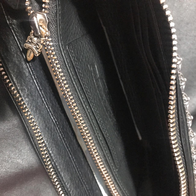 Chrome Hearts(クロムハーツ)のフルゼロ ピラミッド スタッズ 長財布 メンズのファッション小物(長財布)の商品写真