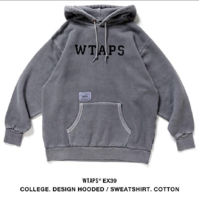W)taps(ダブルタップス)のWTAPS COLLEGE DESIGN HOODED Olive 03 L メンズのトップス(パーカー)の商品写真