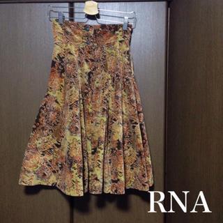 アールエヌエー(RNA)の◯USED◯RNA ヴィンテージ 総柄 コーデュロイ フレアスカート(ひざ丈スカート)