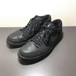 NIKE - NIKE AIR JORDAN 1 all black 27.5cm