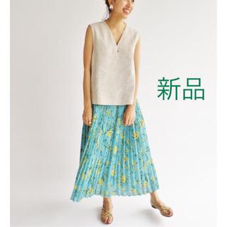 IENA - IENA カスレフラワープリーツスカート Noble spick イエナ