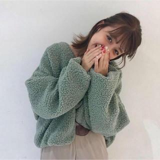 ANOTHER EDITION - ♡ アナザーエディション ボアノーカラーカーディガン ケリー