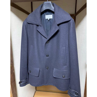 マルタンマルジェラ(Maison Martin Margiela)の国内正規品 margiela マルジェラ ウール シングル コート ネイビー (ピーコート)