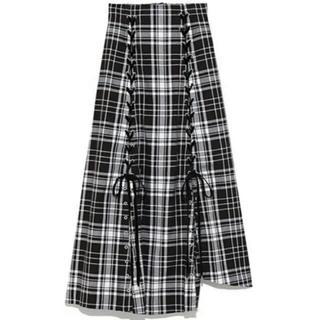 snidel - snidel チェックスリットスカート