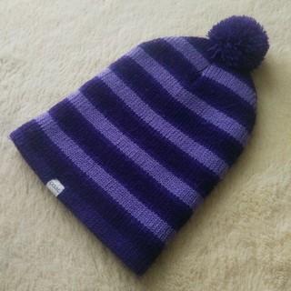 バートン(BURTON)のCOAL ニット帽 パープルボーダー(ニット帽/ビーニー)