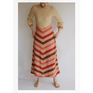 EDIT.FOR LULU - 美品 vintage Knitting Long Dress Beige