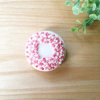刺繍ブローチ 桜リースラメ*(ブローチ/コサージュ)
