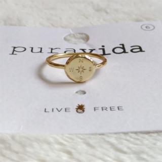 プラヴィダ(Pura Vida)のPura vida リング 指輪 コンパス US 6 ゴールド ロンハーマン取扱(リング(指輪))