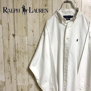 Ralph Lauren - 【激レア】ラルフローレン☆ワンポイントロゴ刺繍 BDシャツ ホワイト