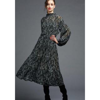 ダブルスタンダードクロージング(DOUBLE STANDARD CLOTHING)の新品タグ付 ダブルスタンダードクロージング シフォンワンピース(ロングワンピース/マキシワンピース)