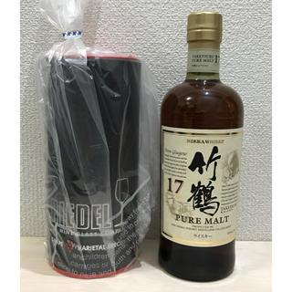ニッカウヰスキー - 竹鶴17年とリーデルグラスのセット