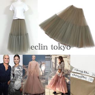 Christian Dior - 2019 ディオール 定価100万円 チュールスカート グラデーションE1907