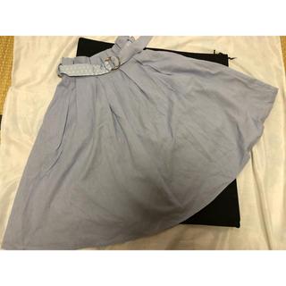 ティティアンドコー(titty&co)のティティ アンド コー 可愛いベルト付き水色のスカート!(ロングスカート)