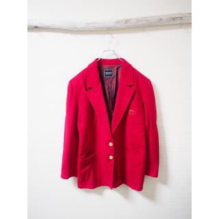 ヴェルサーチ(VERSACE)の【VERSACE】deep-red short jacket(テーラードジャケット)