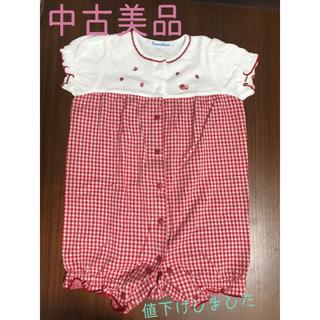 familiar - 【中古美品】familiar  ファミリア 袖付ロンパース半袖70