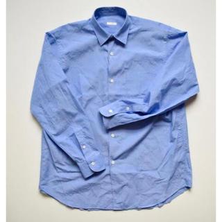 COMOLI - comoli 15ss コモリシャツ サックス サイズ0