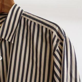 COMOLI - comoli 15AW ストライプコモリシャツ サイズ2