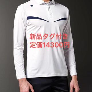 DESCENTE - L 新品 デサント メンズ ゴルフシャツ 長袖ポロシャツ 長袖シャツ