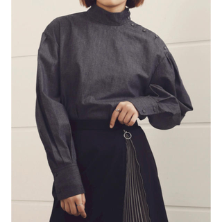 LE CIEL BLEU - ルシェルブルー High Neck Shirt