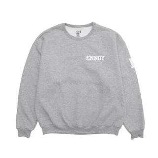 1LDK SELECT - Ennoy college sweat M grey×white