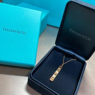 Tiffany & Co. - ティファニー 18金 アトラスバー ダイヤ ネックレス ペンダント ゴールド