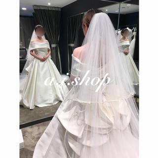 【美品】タカミブライダル ロングヴェール ベール 3m(ウェディングドレス)
