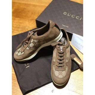 Gucci - 激レア!新品!GUCCI グッチ レザースニーカー 靴 36