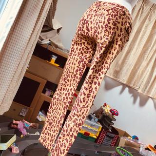 ギャルスター(GALSTAR)の美品ロデオRODEO春ストレッチ入ヒョウ柄茶色オレンジ・カラースキニーパンツ(スキニーパンツ)