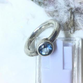 11月の誕生石 ブルートパーズ シルバー925リング 16号甲丸ギフト 宝石指輪(リング(指輪))
