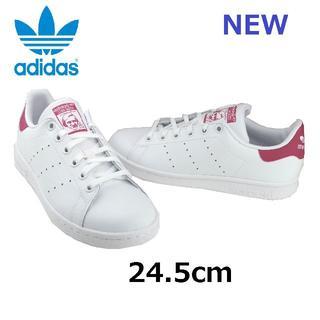 アディダス(adidas)の【アディダスオリジナルス】スタンスミス 白/ピンク 24.5cm (スニーカー)