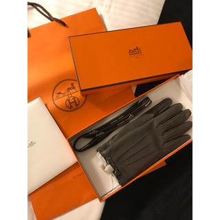 エルメス(Hermes)のチビ様ご専用✨新品🍊エルメス HERMES レザー手袋🍊 エタン✨<ドッグ>(手袋)