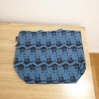 ルートート(ROOTOTE)の☆新品☆ ルートート キャンバス トートバッグ ブルー 猫(トートバッグ)
