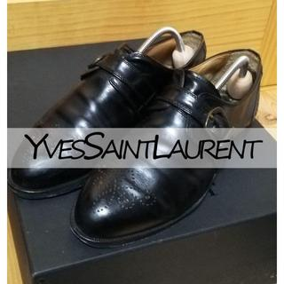 Saint Laurent - イヴ・サンローラン 革靴 モンクストラップ