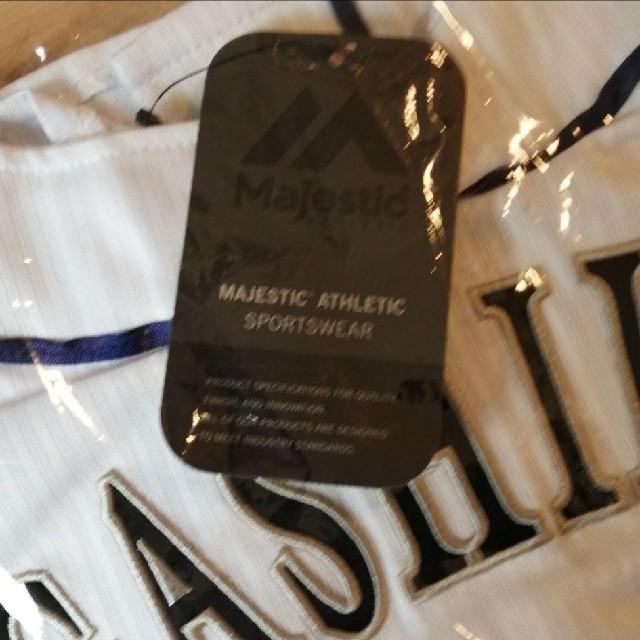 Majestic(マジェスティック)の福岡ソフトバンクホークス#16東浜巨投手 80周年記念ユニ 新品未使用XL  スポーツ/アウトドアの野球(応援グッズ)の商品写真