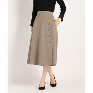 STRAWBERRY-FIELDS - 美品♪2019ストロベリーフィールズ ベージュ千鳥 スカート