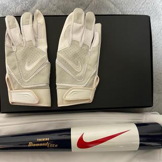 NIKE - プロ支給品 ナイキ 野球 新品未使用 木製バット マスコット 手袋 レア
