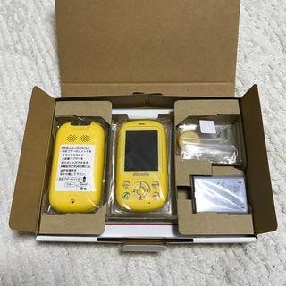 エヌティティドコモ(NTTdocomo)のdocomo F-03J キッズケータイ イエロー 新品 キッズ携帯 ドコモ(携帯電話本体)
