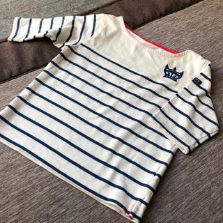 ロデオクラウンズ(RODEO CROWNS)の新品ロデオRODEOクラウン刺繍5部袖カットソーマリンボーダー120長袖tシャツ(Tシャツ/カットソー)