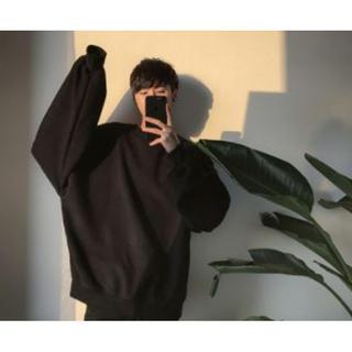 【少量のみ確保】韓国系  秋冬トレンド メンズ スウェット トレーナー  L