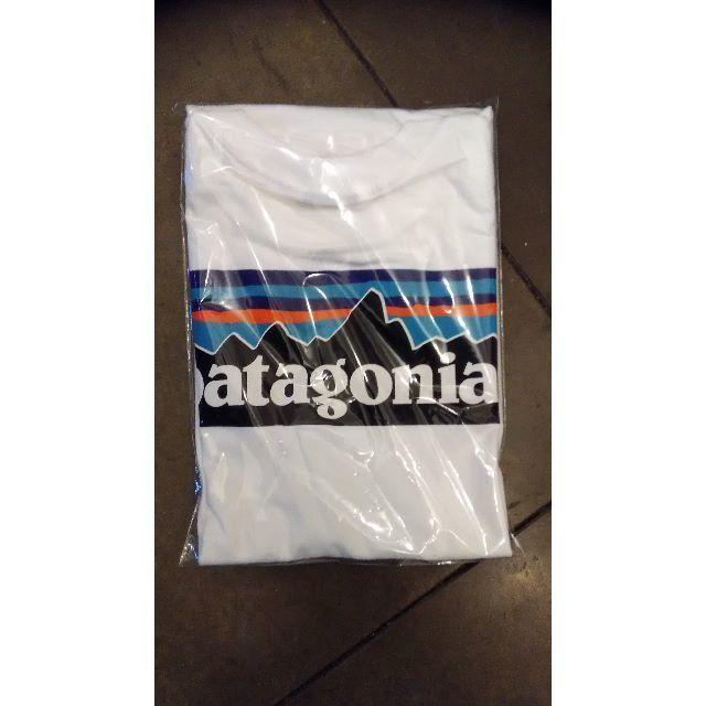 patagonia(パタゴニア)のpatagonia パタゴニア 半袖T シャツ P-6LOGO ボックス 白  レディースのトップス(Tシャツ(半袖/袖なし))の商品写真