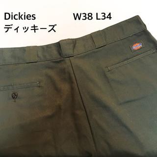 Dickies - ディッキーズ ワークパンツ カーキ 緑 古着 38 X 34 XLサイズ
