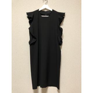 ZARA - フリル袖ブラックドレス