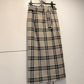 LOWRYS FARM - チェックスカート ロングスカート