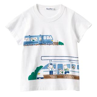 familiar - 新品タグ付き☆ファミリア お話Tシャツ 新幹線 電車 ホワイト 120