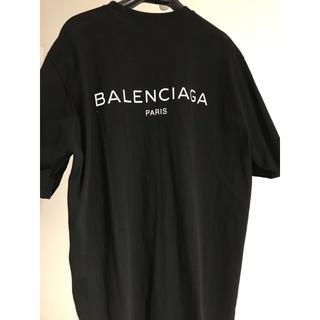 Balenciaga - BALENCIAGA バレンシアガロゴ バックプリントTシャツ黒